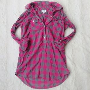 Pink and Gray Henley